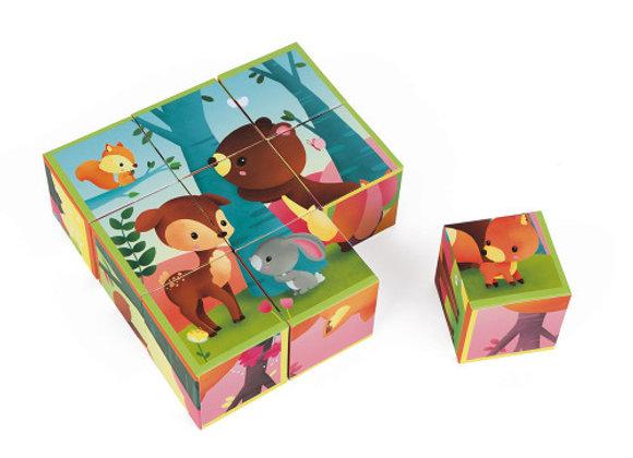 Kubkid - 9 cubes animaux de la forêt