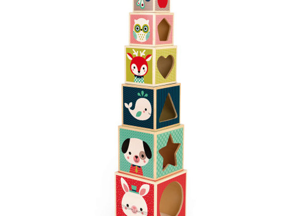 Pyramide 6 cubes - baby forest