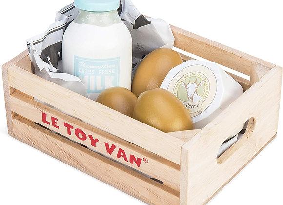 panier de produits laitiers & oeufs
