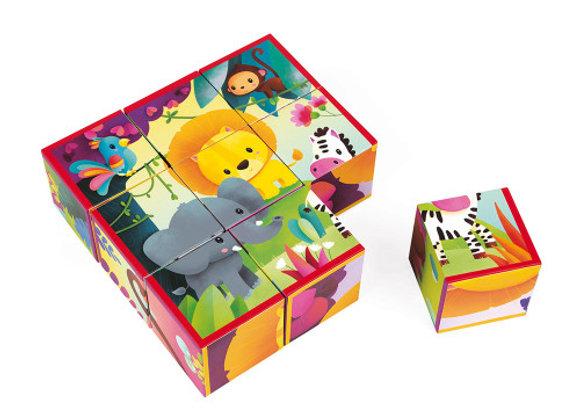 Kubkid - 9 cubes animaux de la jungle