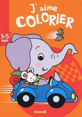 L'éléphant- coloriage