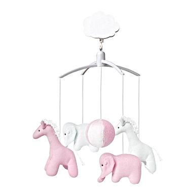 Mobile musical - Elephant et Girafe Rose
