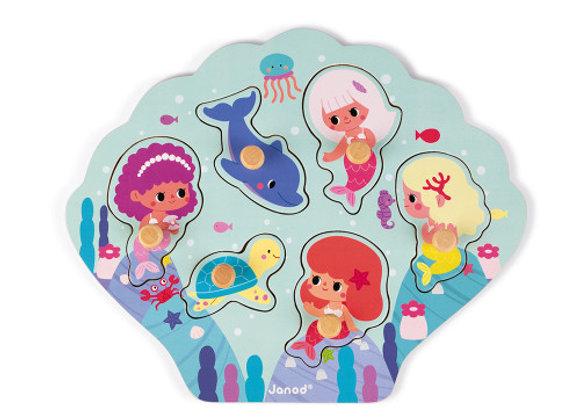 Puzzle Happy mermaids