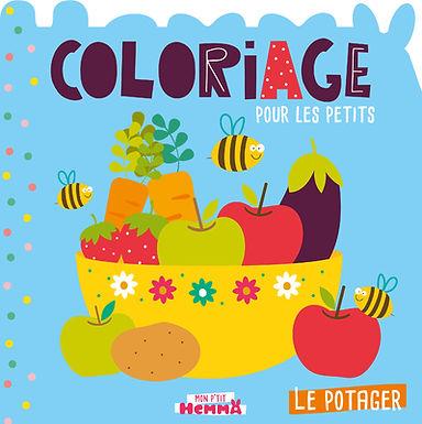 Le potager - coloriage pour les petits