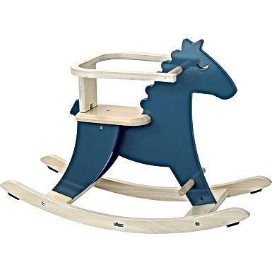 Cheval à bascule bleu paon + arceau de sécurité amovible