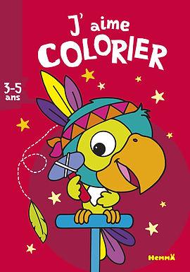 Le perroquet- coloriage
