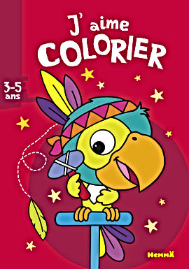 Le perroquet- coloriage