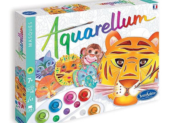 Aquarellum - masques animaux