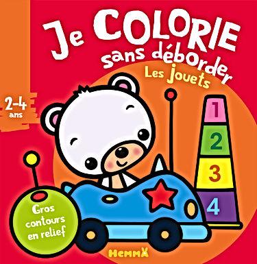 Les jouets - Je colorie sans déborder