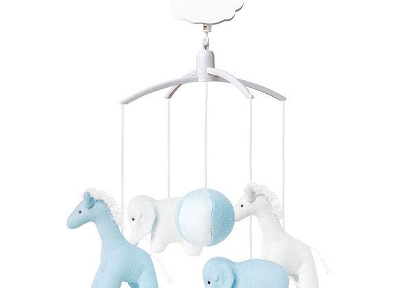 Mobile musical - Elephant et Girafe Bleu
