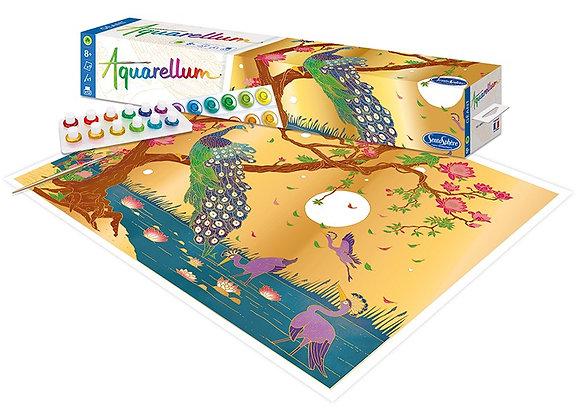 Aquarellum géant - paravent paon