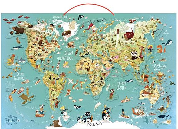 Carte du monde fantastique magnétique