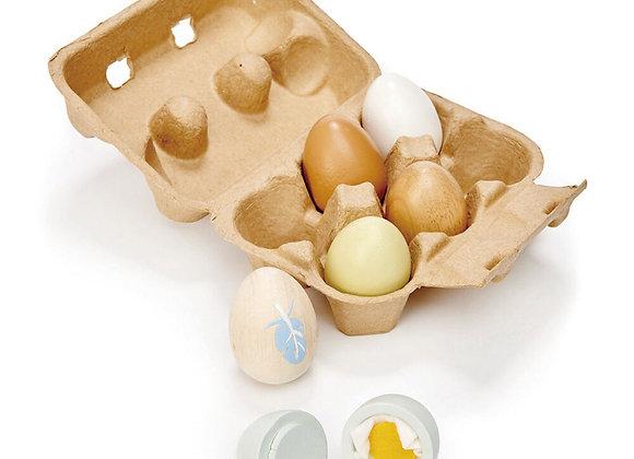 Boite de 6 œufs en bois
