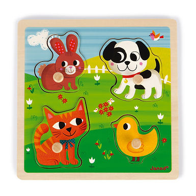 Puzzle tactile - Mes premiers animaux