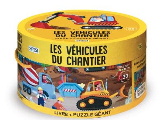 Puzzle géant - Les véhicules de chantier