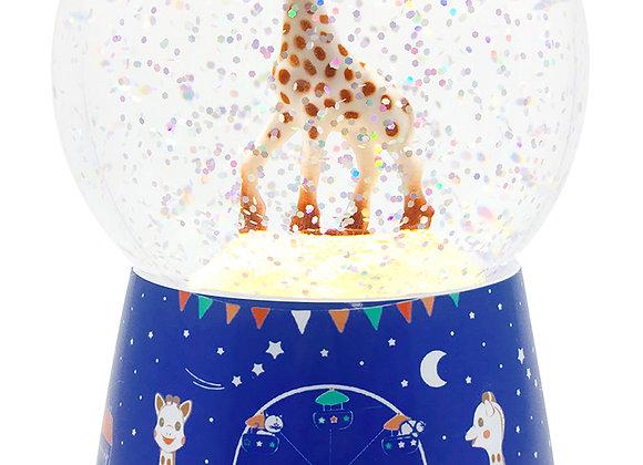 Veilleuse boule à neige musicale Sophie la Girafe