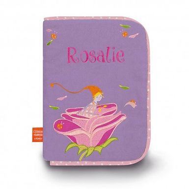 Protège carnet de santé Lutine à la rose