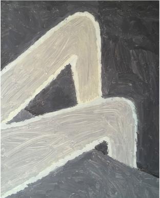 Ben Callaway. Night. Óleo sobre lienzo, 80x65, 2018.