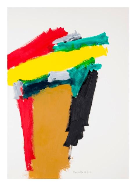 S/t (Femme Banner). Acrílico y óleo sobre papel. 100 x 70cm, 2016.
