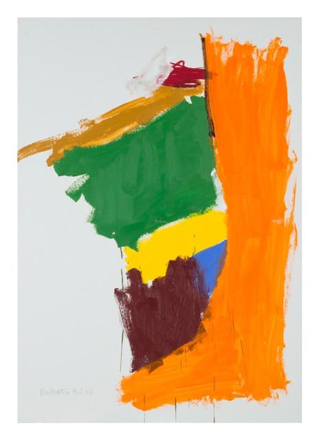 S/t (Femme Banner). Acrílico y óleo sobre carton. 100 x 70cm, 2016.