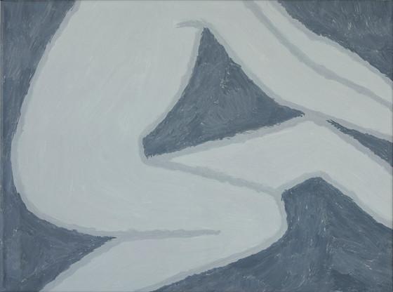 Figure 2, oil on canvas, 81cm x 60cm, 2019