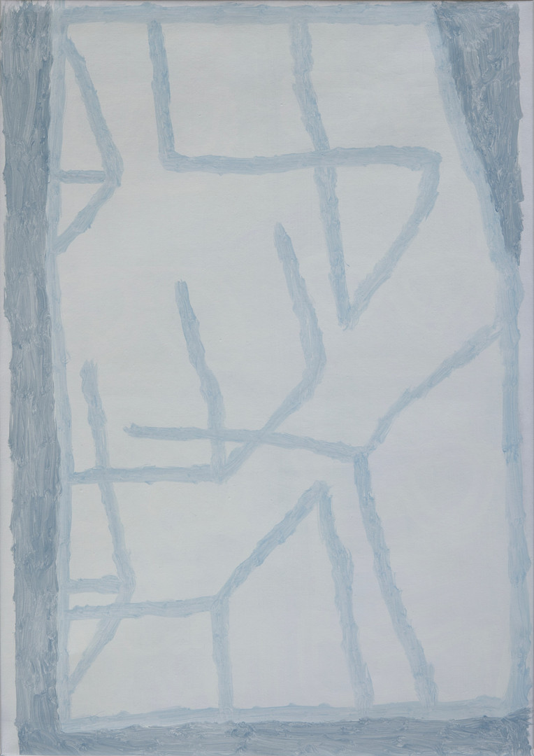 Glancing, oil on canvas, 65cm x 92cm, 2020