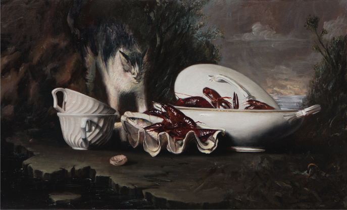 Bodegón barroco  óleo sobre lienzo | 2017