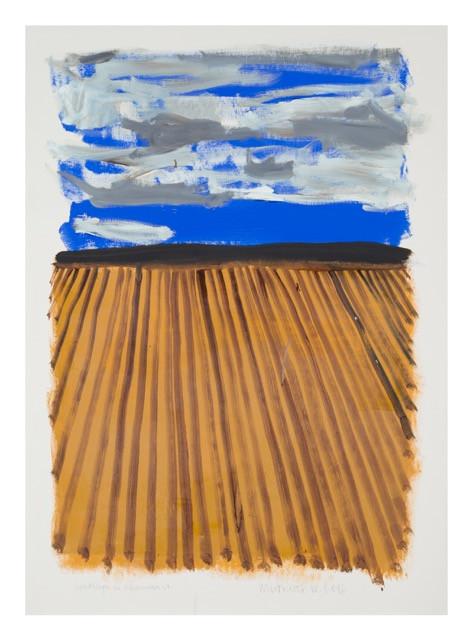 S/t (Villanueva). Acrílico y óleo sobre papel. 100 x 70cm, 2015.
