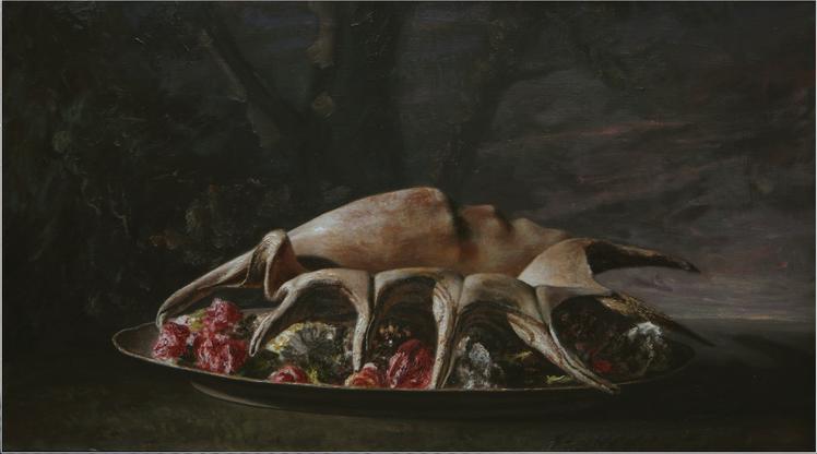Bodegón con concha  óleo sobre lienzo | 2017