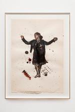 Mujer bailando. Técnica mixta sobre papel. 49 x 37cm. 2018
