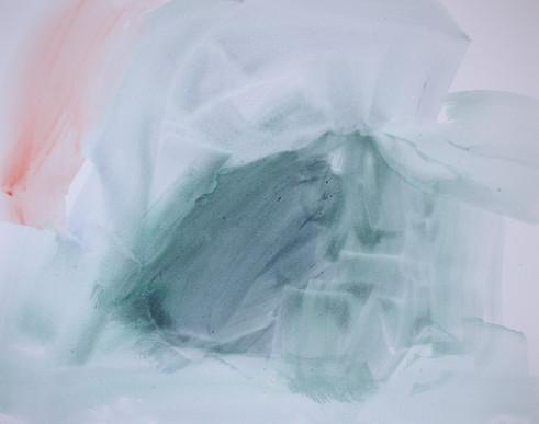 Sidsel Carré. Sin título. Acuarela sobre papel, 50 x 65, 2018.
