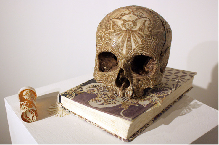 Swoon memento mori skull