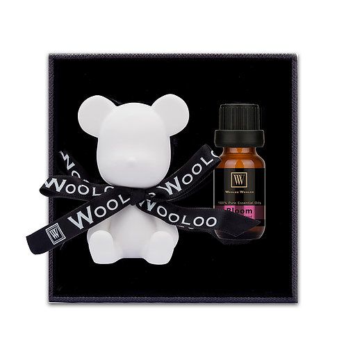 WoolooWooloo: 手工催情香薰精油套裝 - Bloom (精油+純白小熊陶瓷擴香座)