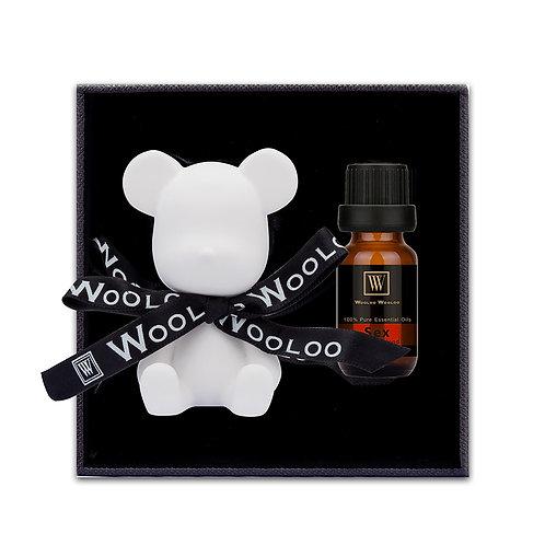 WoolooWooloo: 手工催情香薰精油套裝 - Sex (精油+純白小熊陶瓷擴香座)