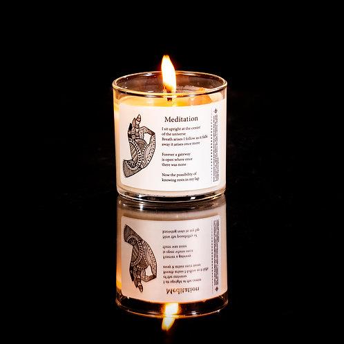 水晶香薰精油按摩蠟燭 - Meditation