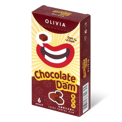 Olivia:  朱古力香味 口交膜 (6片)