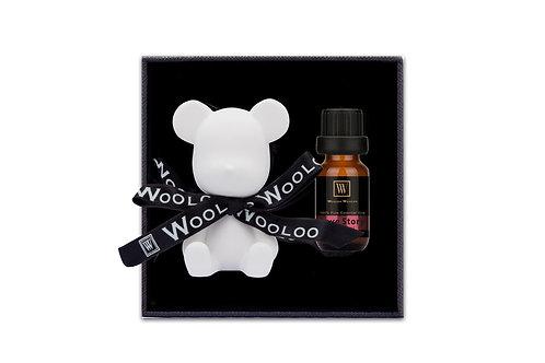 WoolooWooloo: 手工催情香薰精油套裝 - Love Story (精油+純白小熊陶瓷擴香座)