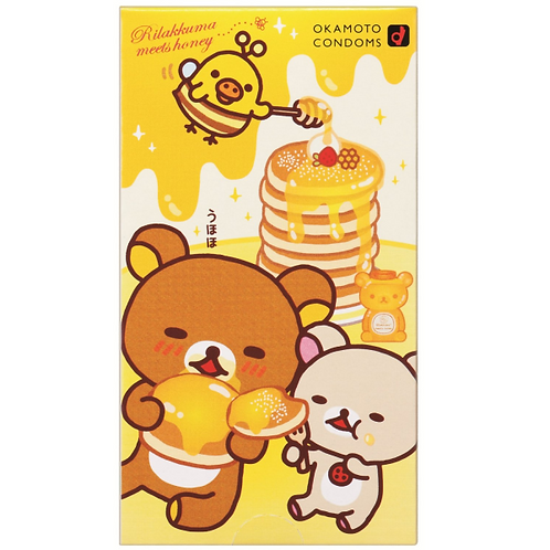 Okamoto日版岡本: 可愛鬆弛熊 額外潤滑安全套(10片裝)