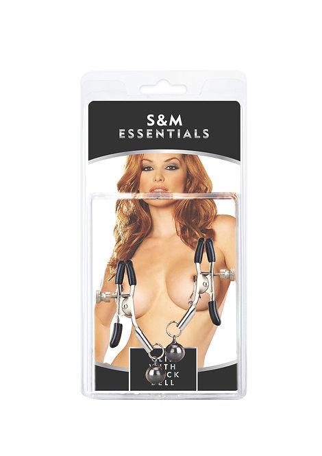 S&M Essentials: 可調較式鈴鐺乳頭夾