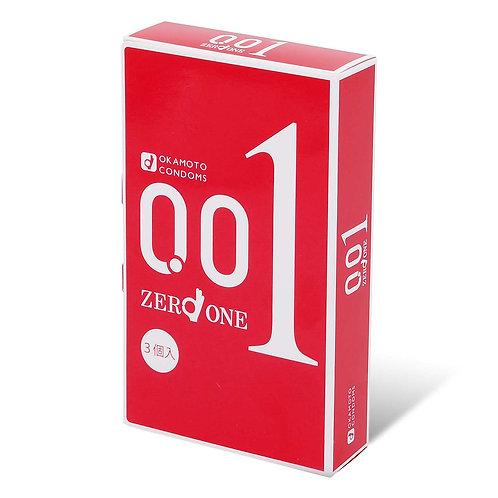 Okamoto日版岡本: Zero One 0.01安全套 (3片裝)
