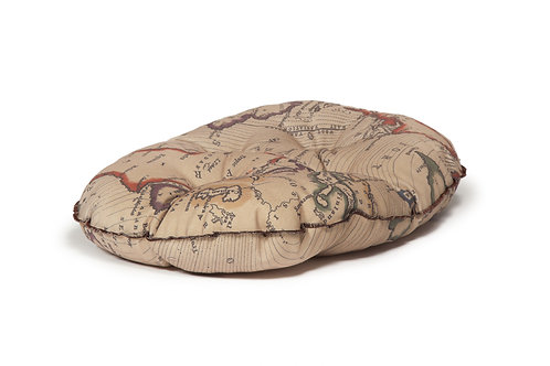 Vintage Maps Quilted Mattress