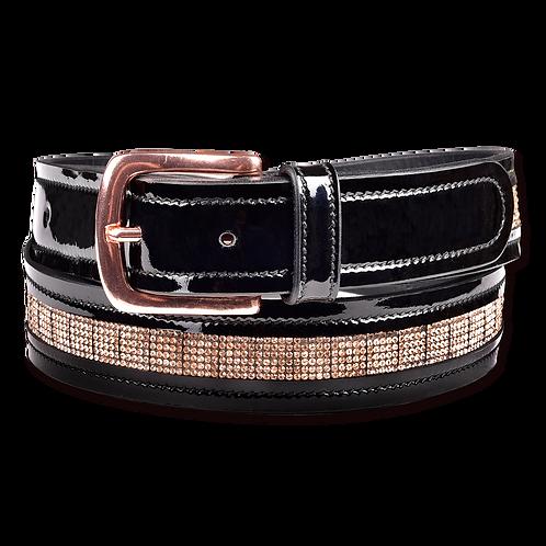 Rose Gold Leather Belt