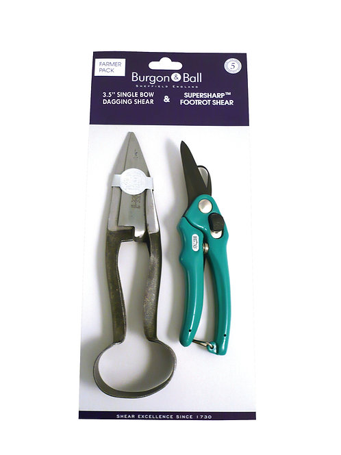 Burgon and Ball Dagging and Footrot Shear Farmer Pack Single Bow