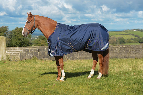 Wicklow Turnout Rug (Heavy) Navy/Gold