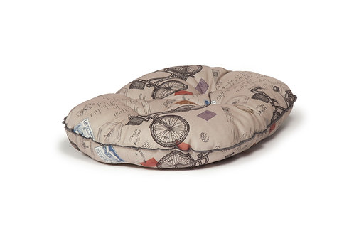 Vintage Bicycles Quilted Mattress