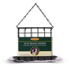 Metal Suet Block Feeder with Tray