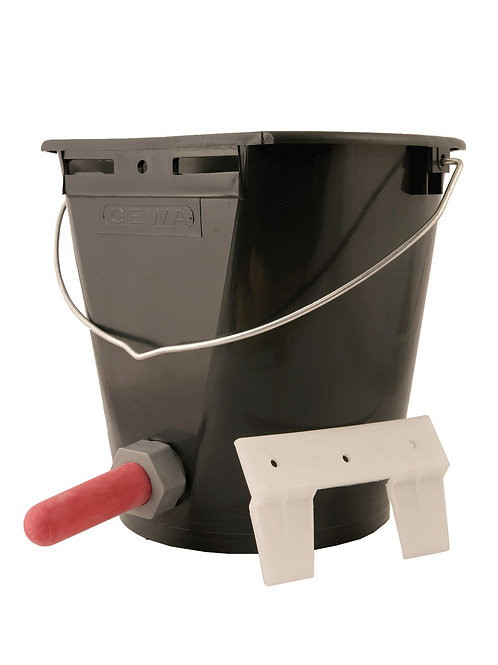 Single Calf Bucket c/w Teats and Valves