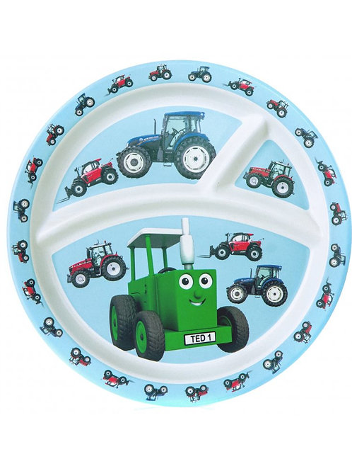 Tractor Ted Bamboo Divider Plate, Tractor