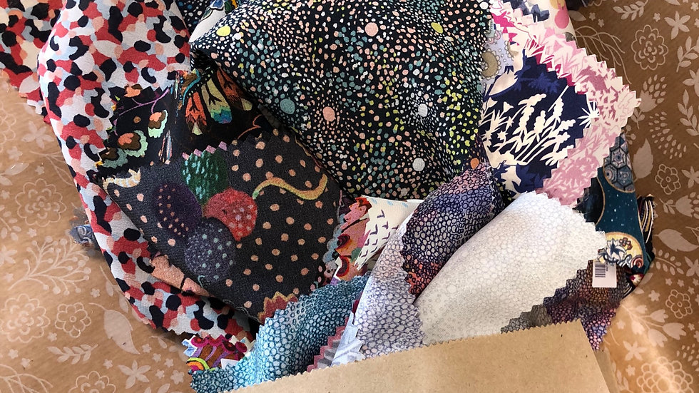 Mixed Liberty Fabric Samples Stash Pack - 125g of beautiful mixed styles