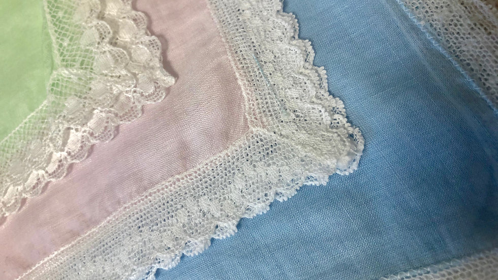 Sets of Lovely Vintage Cotton & Lace Hankies